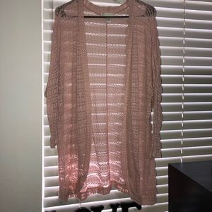 Forever 21 Plus Blush Cardigan